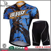 BEROY men compression mountain bike set, design cycling jersey