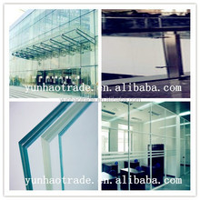 3-12mm cheap safety laminated Tempered Glass in glass walls