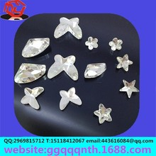 Elliptic droplets horse eye anise peach heart shaped flat point back sew acrylic drilling stone
