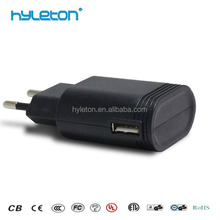 EU Plug OEM USB Travel Wall Charger for Samsung/HTC/Blackberry