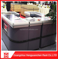 factory price customized cashier desk size store checkout counter for sale