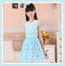 Han edition children's clothes Children's girls dress of summer dresses cuhk Cotton hollow out princess dress