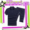 Simple soft suits wholesale blank t shirts plain black jogging suits