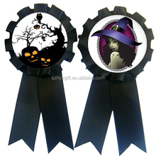 Halloween Witch decorations / stain ribbon flowers/ Ribbon Rosette made by Disney & Sedex Qualify Supplier