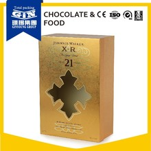 Good quality customized gold wine gift boxes wholesale