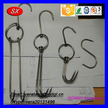 High quality healthy Stainless steel 304 hanging meat hooks, roasted hook cleaned by ultrasonic cleaning machine
