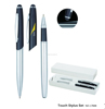 Metal pen set with touch stylus on the top 2014 new