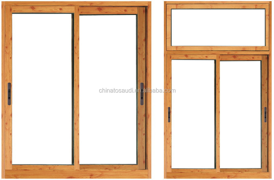 Sliding window with aluminum alloy double glazed coffee color glass