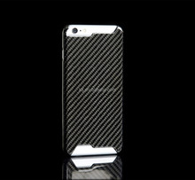 With customized Gold LOGO 100% real Carbon fiber phone case for 6 6plus