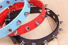 Wholesale Luxury Pitbull Spiked Leather Dog Collar