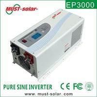 Must hot selling excellent performance off grid 12V/24V/48VDC pure sine wave power inverter battery charger