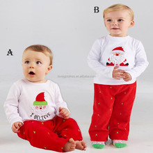 Toddler Girls Christmas Outfit Children's Clothes Sets Custom Boutique Fall Sets Pant and Tee Winter Girl Outfit