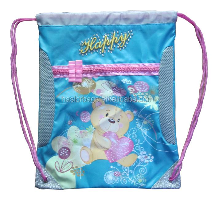 Kids School Bag Set avec sac de crayon / sac à chaussures / sac à dos / sac à bandoulière