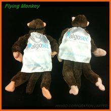 Novelty Promotional Toy Plush Slingshot Flying Monkey With Printed Cape