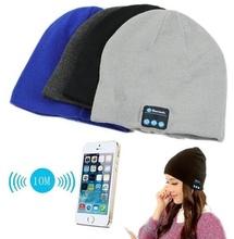 2015 Warm Beanie Hat Wireless Bluetooth Smart Cap Headphone Headset Speaker Mic