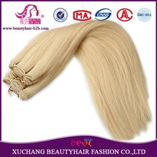 Perfect Customer Experience Factory Wholesale Natural Hair Extensions, Blonde Color Human Hair Weft