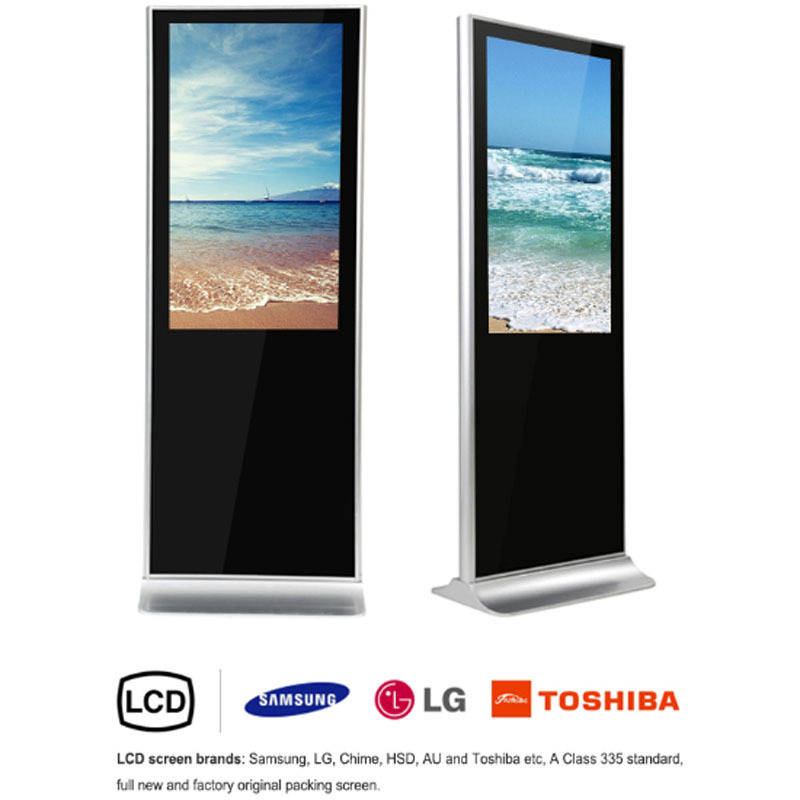 Floor Standing Lcd Advertising Display55 Inch Touch