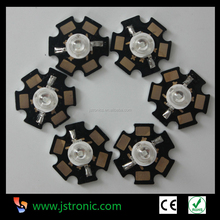 High brightness 3W yellow high power led with PCB star