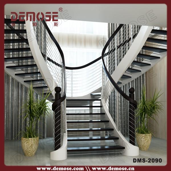 Edelstahl treppen stringer massivholz treppe designs außen ...