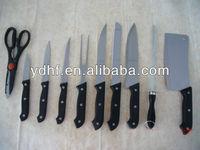 10 pcs Stainless steel kitchen knife set