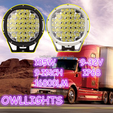 Make in modern skill!185w led driving light For 4WD Jeep 4x4 accessories 185w led work light 12v 9 inch 185W led driving lights