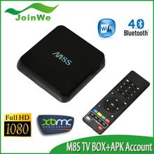 android tv box amlogic S812 M8s, quad core 1G/8G M8 plus kodi dual band wifi 1080p android tv box dvb t2