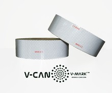 White Color Vehicle Conspicuity Markings, Reflective Tape HI-INT-1800WH FMVSS 108, ASTM D4956