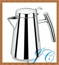 Portable stainless steel water jug with side handle for wine/coffee