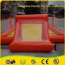 Giant style multiple colors inflatable soap soccer field , soccer football field for footballs sports