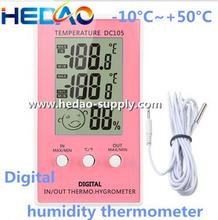 di alta qualità quattro colori termometro digitale igrometro