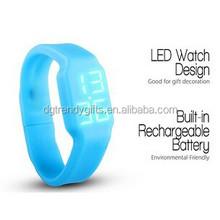 Multifunction USB led bracelet watch