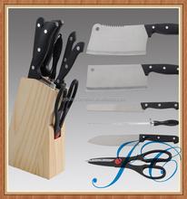 Hot sale kitchen knife set/best 6pcs stainless steel knife set