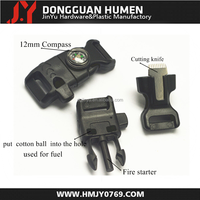 """2015 new 1/2"""" fire starter whistle buckle with compass, fint rod whistle buckle ,whistle buckle with firesteel"""