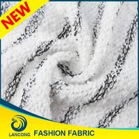 China supplier Competitive price Knit polyester cotton terry cloth fabric forkids knitting sweater patterns