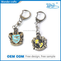 Hot sale high quality fashional promotional advertising 3D zinc alloy custom colorful metal gift keychain for souvenir