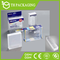 Square clear pvc color box plastic folding clamshell blister packaging box