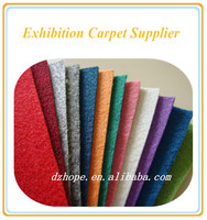 Various colors High quality nonwoven fabric exhibition carpet
