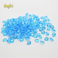 Wholesale Blue Pear 5x4mm Synthetic Glass Gems For Crafts