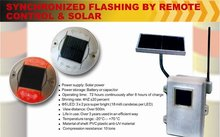 Synchronized flashing by remote control & solar