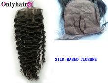 Breathability and comfortable kinky curly silk base closure hair