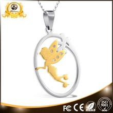 2015 Hottime jewelry color fairy shaped stainless steel pendant