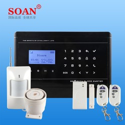 GSM PSTN Dual Network Wireless GSM Alarm System Sim card, GSM Home Alarm System with APP control and Touch Keypad