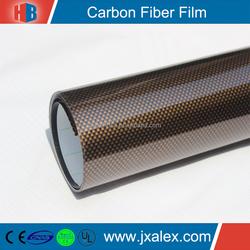 TQ-0109PET High Quality Self Adhesive Premium Carbon Fiber Car Cover Vinyl Film, 150mic/140gsm, Clear & Removable Glue