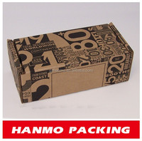 customized f flute corrugated small shipping boxes factory price
