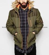 fur hood mens padded winter outdoor training upper coat