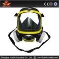 2015 alta qualidade anti gás, pc lente, duplo filtro full face máscara de gás/bombeiro equipamento máscara
