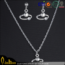 2015 latest style ,lead and nickel safe alloy fashion jewelry setsegg shape pendant necklace ,fashion earrings 2015