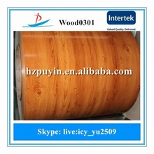 0.4mm thick ppgi metal sheet/wood grain design ppgi/prepainted galvanized steel coils used in decoration and building materials