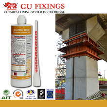 Fast curing injection resin system construction glue