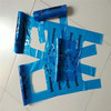 Easy taking factory good quality blue cheap supermarket plastic bag with vest handle